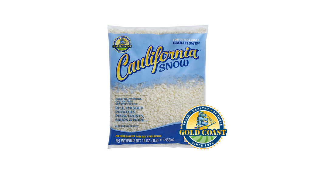 New Caulifornia Snow Riced Cauliflower