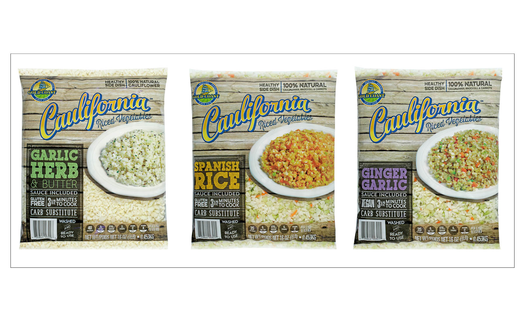 Caulifornia™ Riced Vegetable Sides